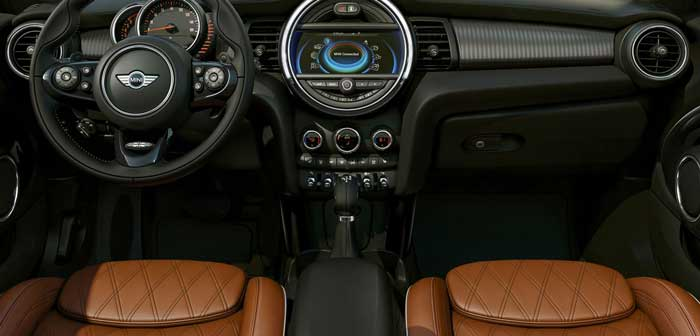 stylish interior of Mini Cooper 2016